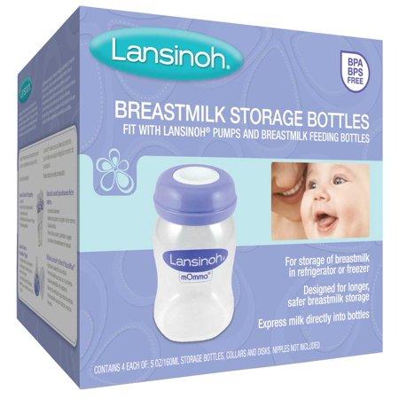 Lansinoh Breastmilk Storage Bottles, 4 count - Cheap Milk Bottles For Parties