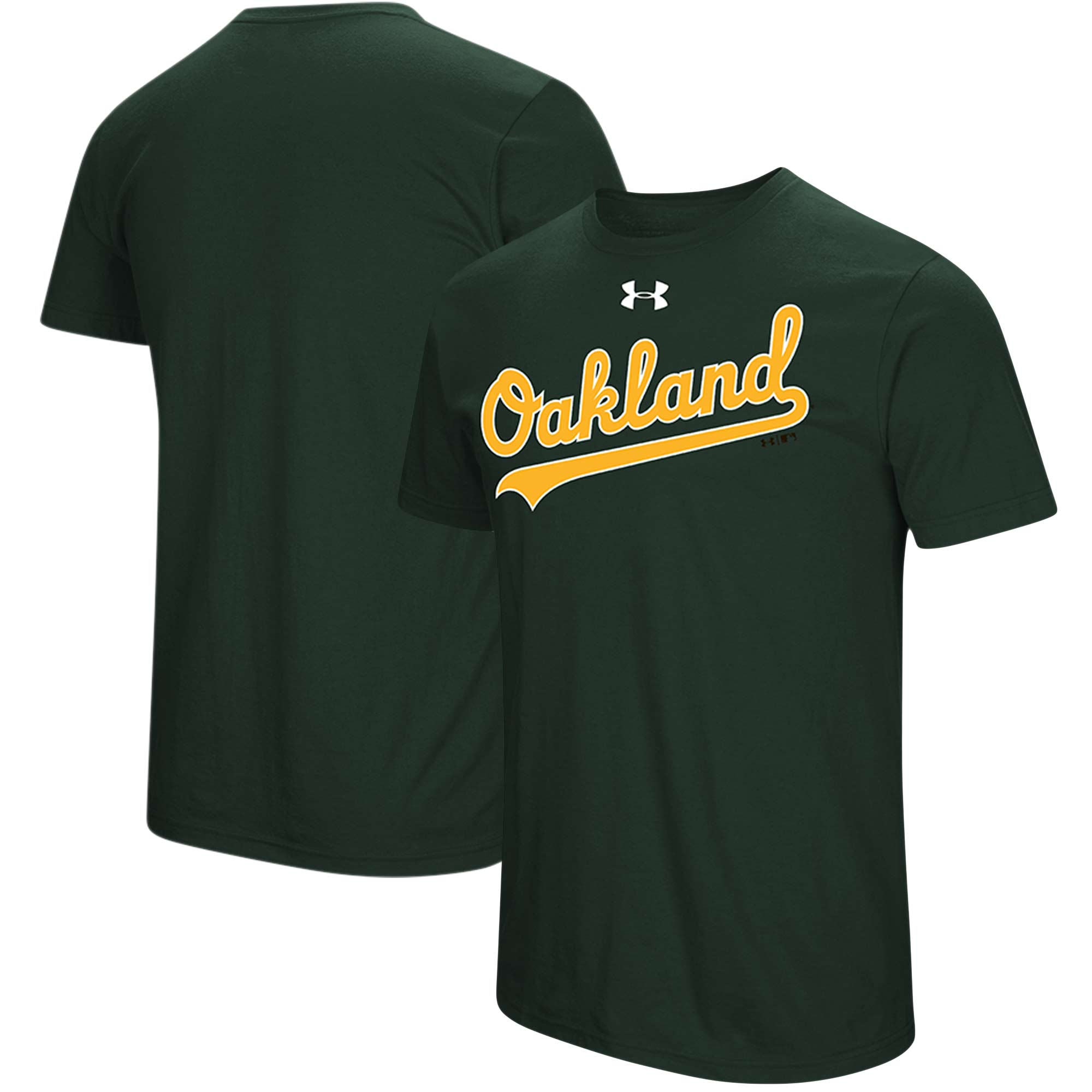 Oakland Athletics Under Armour Passion Road Team Font T-Shirt - Green