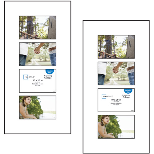Mainstays 4-Open 4x6 Panel Collage Format Picture Frame, Set of 2