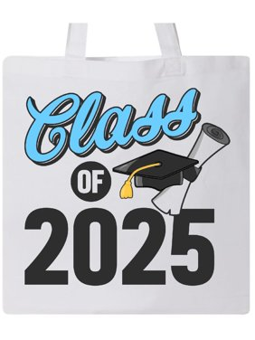 7f868e7e7fc Product Image Class of 2025 with Cap and Diploma Tote Bag White One Size