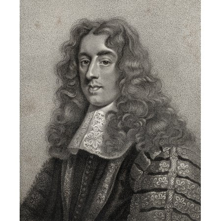 Heneage Finch 1St Earl Of Nottingham Baron Finch Of Daventry 1621 1682 Lord Chancellor Of England Fom The Book A Catalogue Of Royal And Noble Authors Volume Iii Published 1806 Posterprint