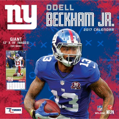 Turner Sports 2017 12  X 12  Player Wall Calendar  New York Giants Odell Beckham  Jr