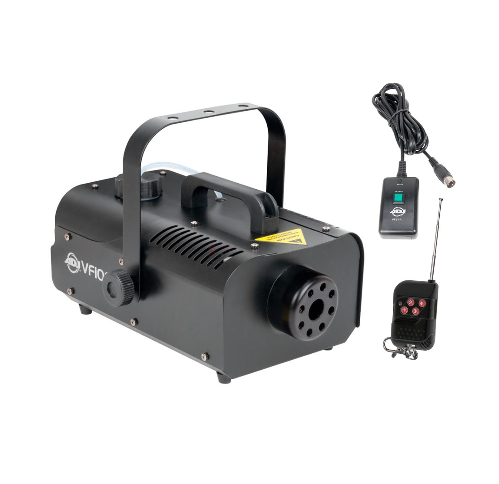 American DJ 1000W 1 Liter Medium Size Mobile Smoke Fog Machine w  Remotes VF1000 by ADJ