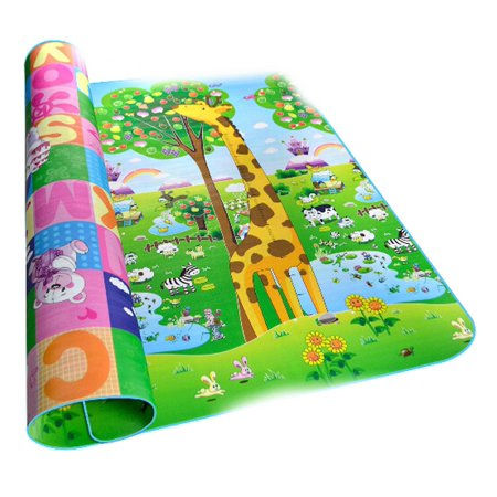 Baby Kids Play Mat Picnic Cushion Crawling Mat with Two Sides Playing Activity Pad HITC - Crawling Man