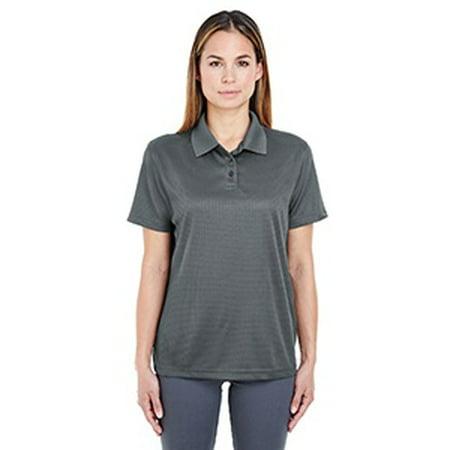 - UltraClub Ladies' Cool & Dry Elite Mini-Check Jacquard Polo