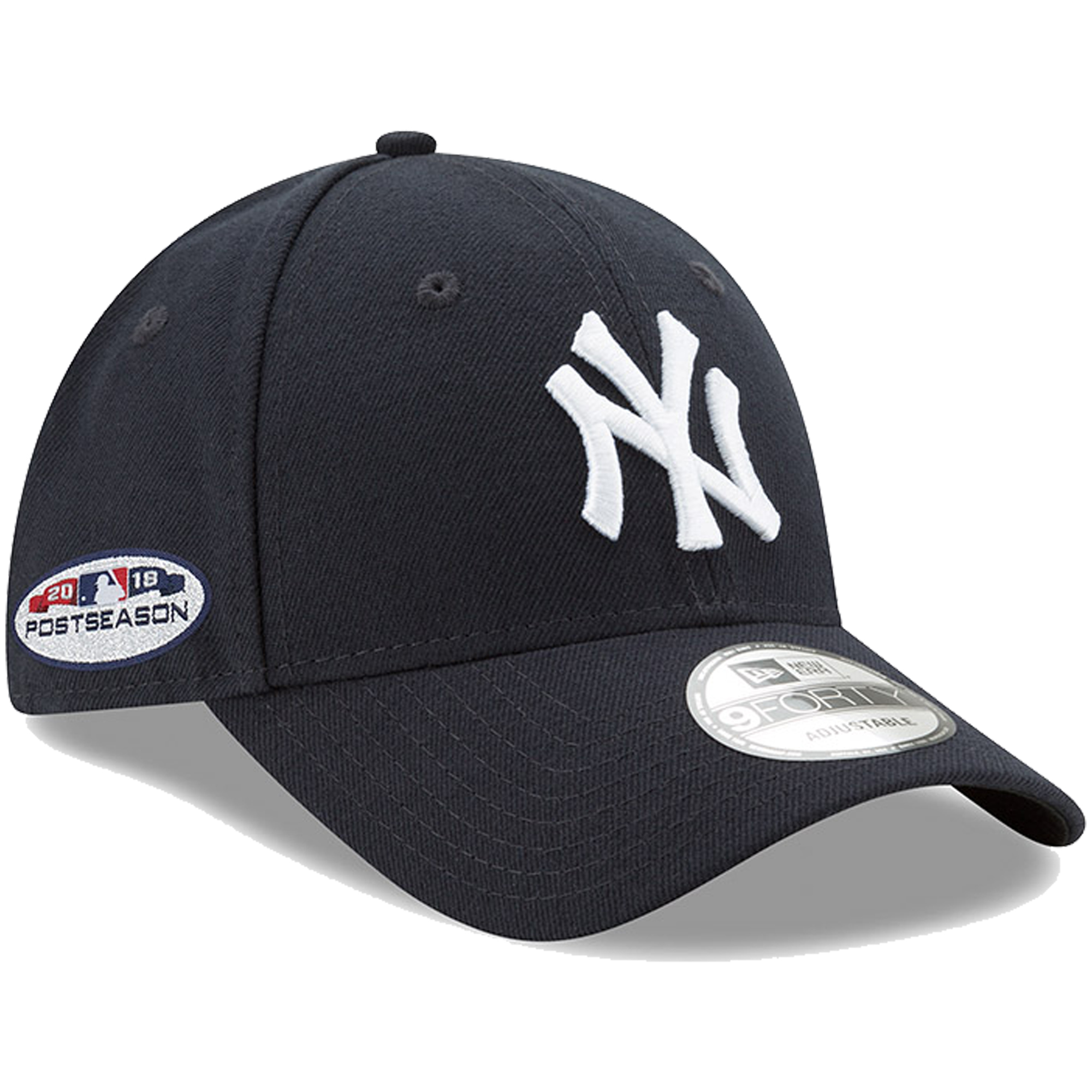 New York Yankees New Era 2018 Postseason Side Patch 9FORTY Adjustable Hat - Navy - OSFA