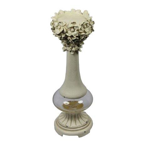 One Allium Way Classic Twist Polyresin Candlestick