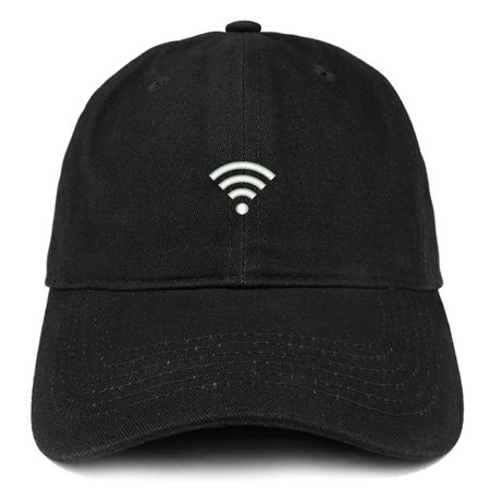 Logo Soft Cotton (Trendy Apparel Shop Connected WiFi Logo Embroidered Soft Cotton Dad Hat -)