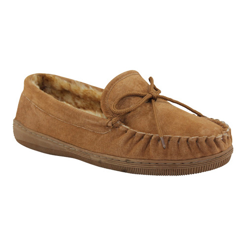 Lamo Footwear Men's Chestnut Leather Moccasin Slippers P102m-92 by Lamo Footwear