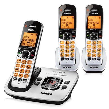 Uniden D1780-3 DECT 6.0 Cordless Phone w/ 2 Extra
