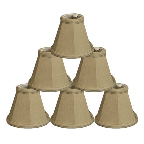 Alcott Hill 5'' Linen Bell Candelabra Shade (Set of 6)
