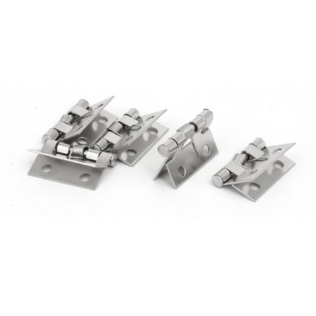 Wooden Case Box Spring Loaded Butt Hinges Silver Tone 26mmx31mm 5pcs - Hinged Wooden Box