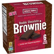 Nature's Bakery Raspberry Double Chocolate Brownie, 12 oz (Pack of 12)