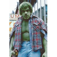 Lou Ferrigno as The Incredible Hulk cult TV series 24X36 Poster green in ripped shirt!