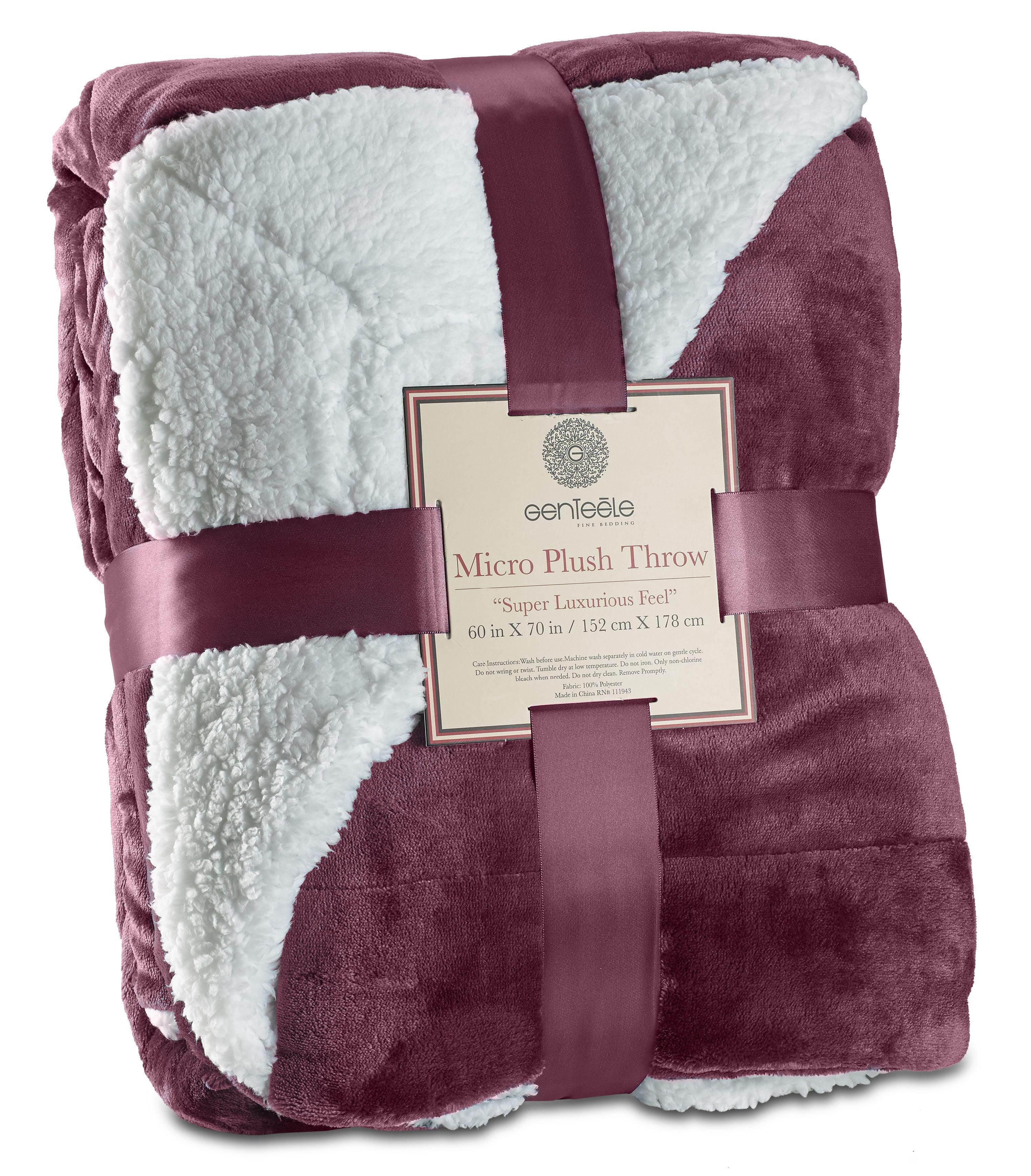 Genteele Super Soft Luxurious Sherpa Throw Blanket, 50