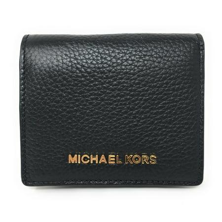 Michael Kors Jet Set Travel Leather Carryall Card Case Wallet (Black) ()