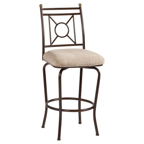 Chintaly Elaina Memory Return Swivel Bar Stool - Autumn Rust