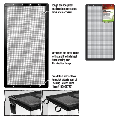 Zilla 11498 Black Metal Fresh Air Screen Cover, 24.3 Inch Length x 0.8 Inch Width x 12.8 Inch Height