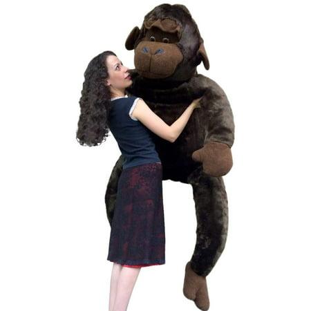 American Made 6 Foot Giant Stuffed Monkey 72 Inch Huge Soft Stuffed