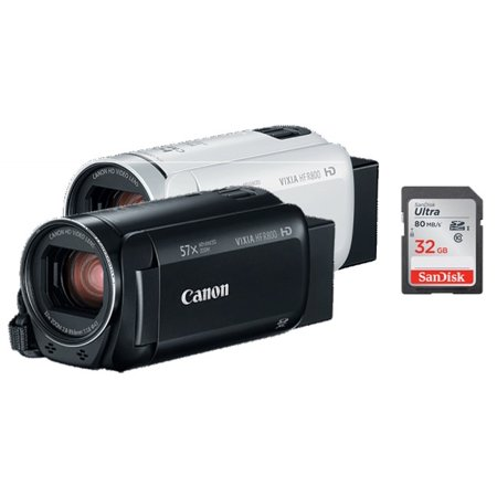 Canon VIXIA HF R800 Full HD Camcorder w/ Free 32GB Memory Card Bundle