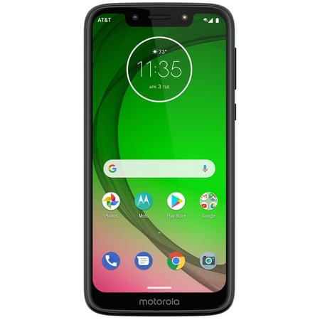 AT&T Motorola Moto G7 Play, 32GB, Deep Indigo - Prepaid Smartphone