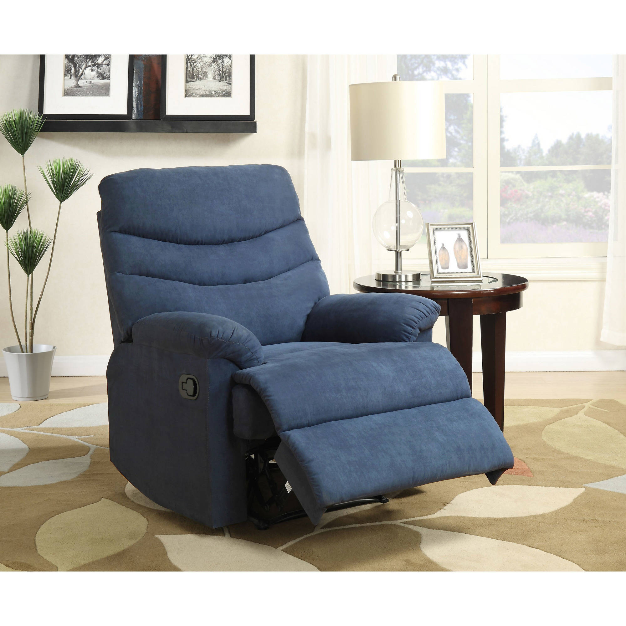 Nathaniel Home Anthony Recliner, Blue