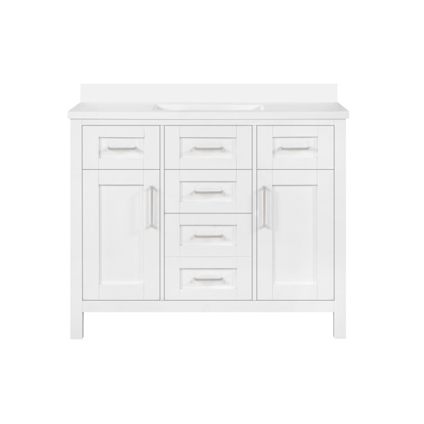 Ove Decors Tahoe Iii 42 Inch White, 42 Inch Bathroom Vanity Without Top