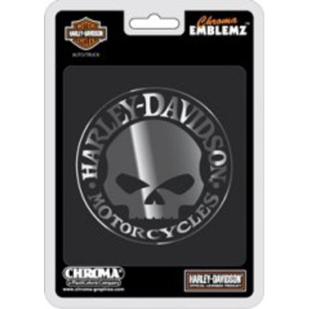 Harley-Davidson Willie G Skull Chrome Auto - Shell Emblem