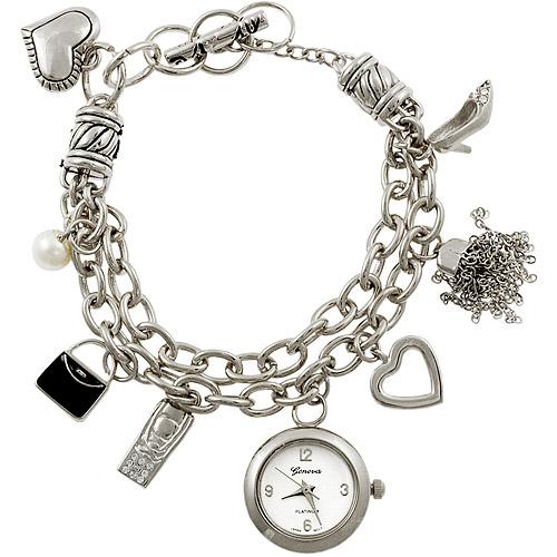 Geneva Platinum Ladies' Toggle Charm Plus Size Watch