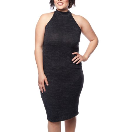 3dd2b2fbbf6a3b GenX - Womens Plus Size Slim Fits Tight Sleeveless Dresses XMD250 -  Walmart.com