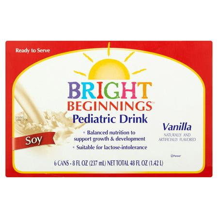 Bright Beginnings Vanilla Soy Pediatric Drink  8 Fl Oz  6 Ct