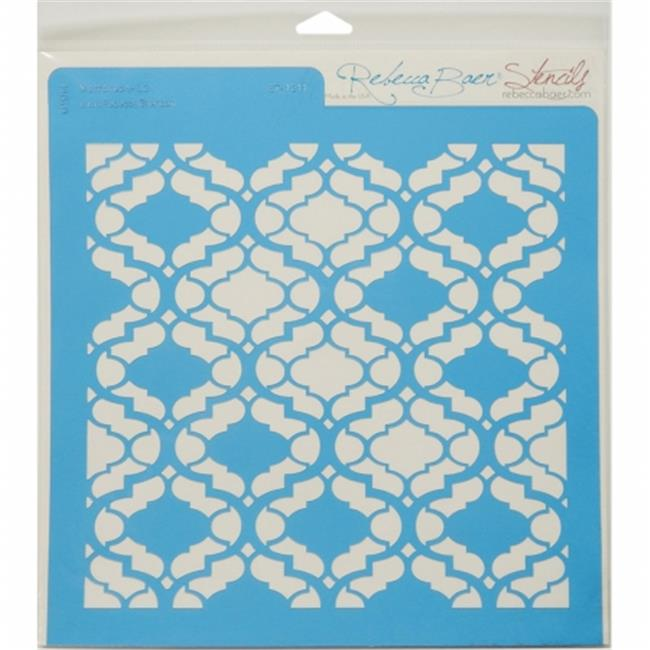 Rebecca Baer RB-LARGE-1211 Stencil 11. 75 x 11. 75 inch - Marrakech
