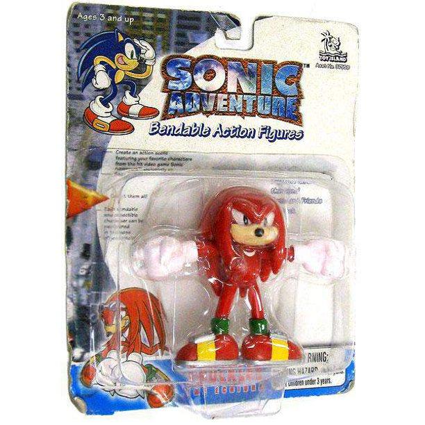 Sonic The Hedgehog Sonic Adventure Knuckles Bendable Figure No Packaging Walmart Com Walmart Com