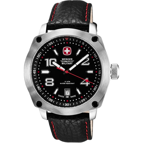 Outback Blk/Red Accent Dial Mens Watch