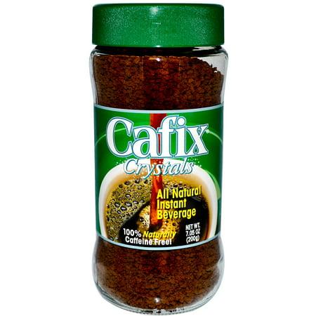 Cafix, All Natural Instant Beverage Crystals, Caffeine Free, 7.05 oz (pack of 6)