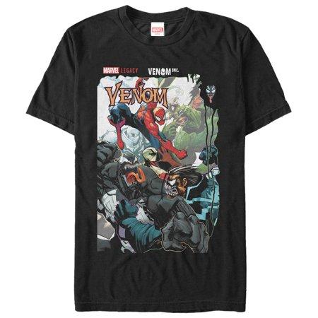 Marvel Men's Legacy Venom vs Spider-Man T-Shirt