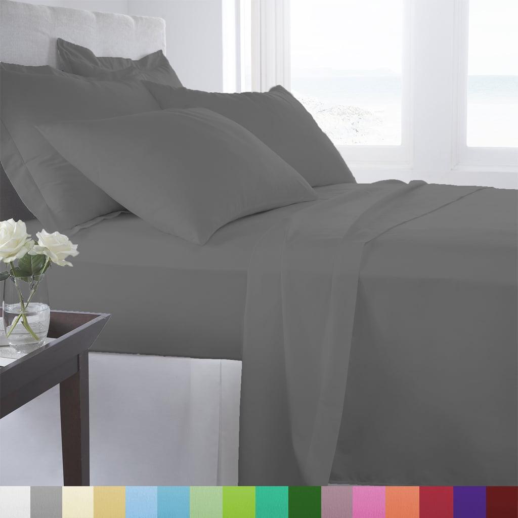 Supreme Super Soft 4 Piece Bed Sheet Set Deep Pocket Bedding - All Colors Sizes