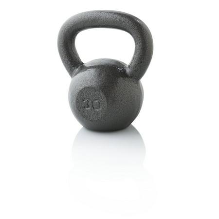 Weider Cast Iron Kettlebell, 10-35 lbs. with Hammertone