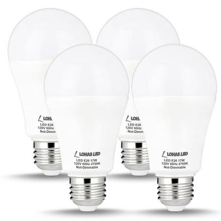 A19 Led Light Bulb 17w 100 150w Equivalent High Brightness Warm