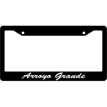Arroyo Grande - Arroyo Grande Script Black Plastic License Plate Frame EBS