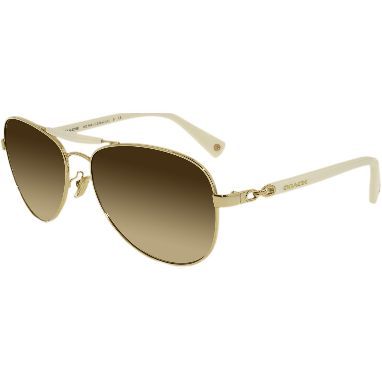 07b996545f62c ... new zealand coach womens gradient alton hc7041 914013 59 white aviator  sunglasses 9f3fb ea9b9