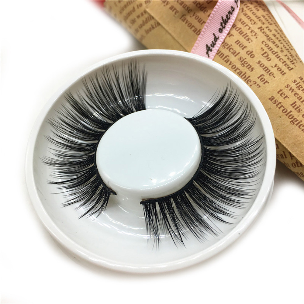 Tuscom 1 Pair Luxury 3D False Lashes Fluffy Strip Eyelashes Long Natural Party