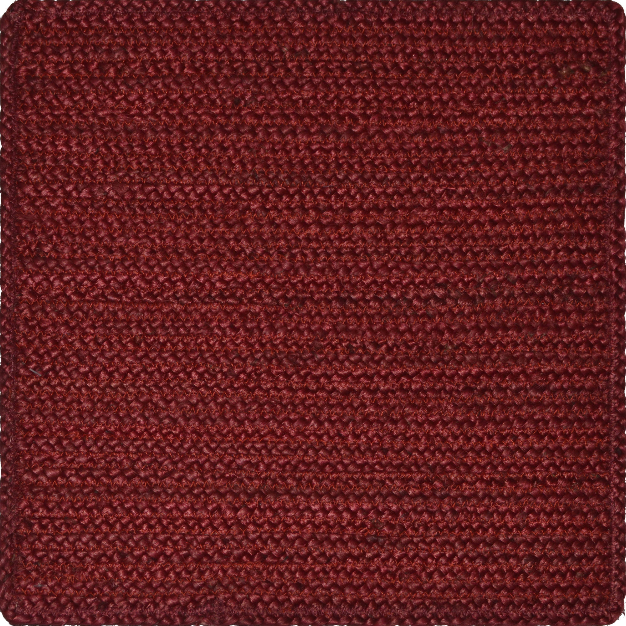 "Better Homes and Gardens Jute Braid 14"" Square Placemat, Red"