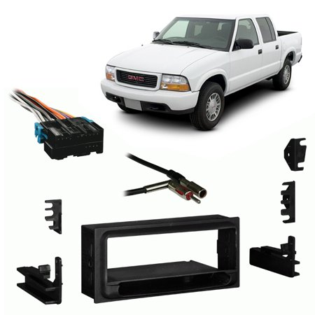 Fits GMC Sonoma 98-01 Single DIN Aftermarket Harness Radio Install Dash Kit