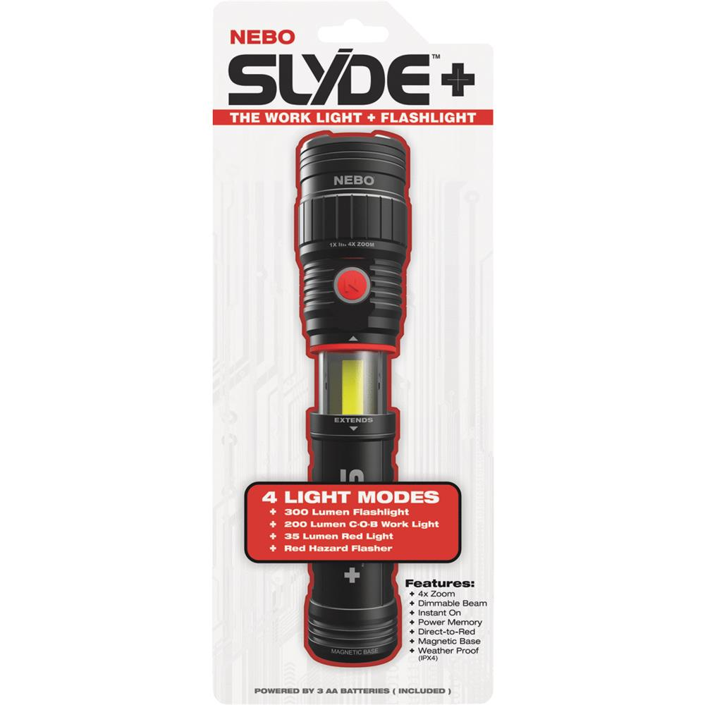 Nebo Tools 4-Mode Slyde Flashlight 6564