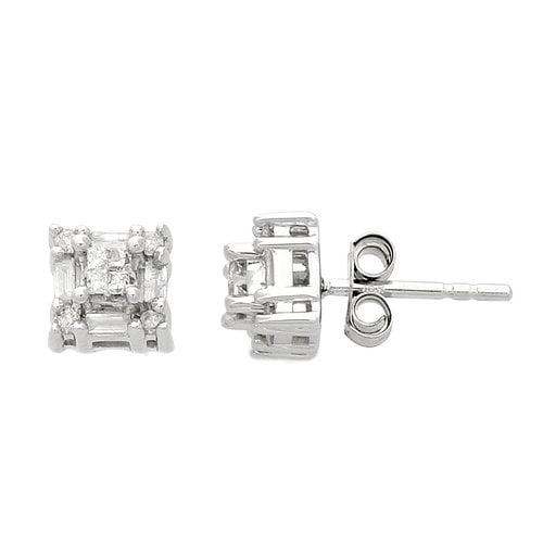 1/3 Carat T.W. Diamond 10kt White Gold Stud Earrings