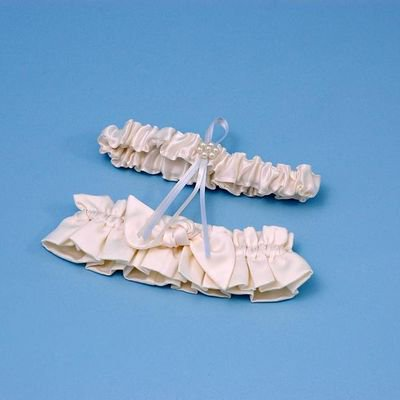 Ivory Bridal Garters - Love Knot Bridal Garter Set (White or Ivory)