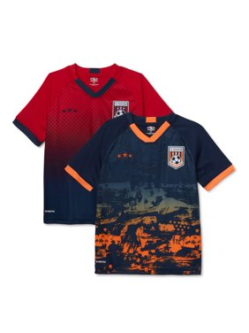 Athletic Works Youth Soccer Jersey, 2-Pack, Sizes 8-18 & Husky