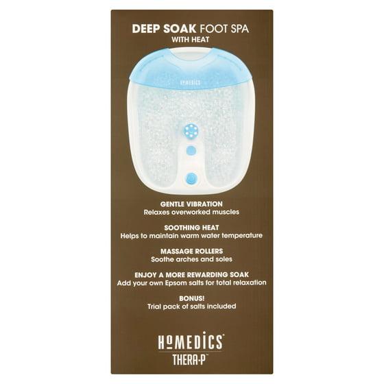 HoMedics Massaging Deep Soak Foot Spa with Heat, Designed for use ...