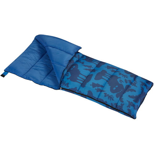 Wenzel Moose 40-Degree Kids Sleeping Bag, Blue by Wenzel